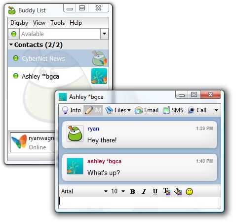 Digsby Build 88 Final - Chat. Check Mail. Mạng xã hội trong 1 chương trình - Link Mediafire - Phần mềm full