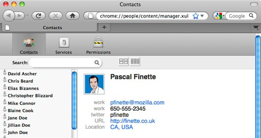 Mozilla Contacts